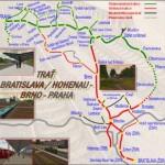 Evropská trať Praha – Bratislava pro Microsoft Train Simulator
