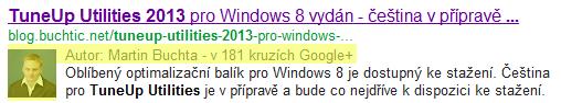 """JAk zvýšit renomé webu v SERPu pomocí rel=""""author"""""""