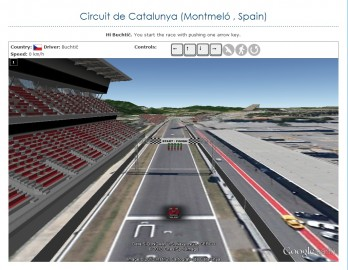 Formula one in Google Earth