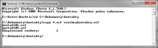 Jak sloučit VCF soubory