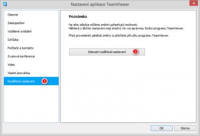Nastavení aplikace TeamViewer