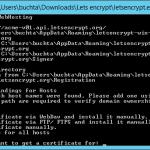 Jak vygenerovat HTTPS certifikát od Let's encrypt na Windows Server 2012?