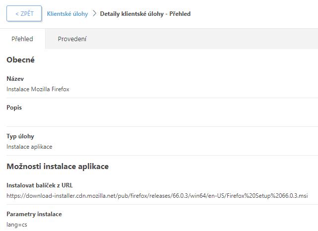 Instalace Mozilla Firefox prostřednictvím ESMC